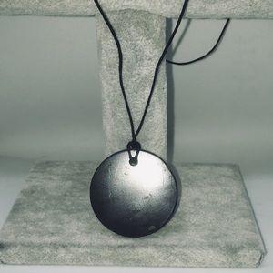 Jewelry - Circle Shungite Healing, EFM Protection Amulet